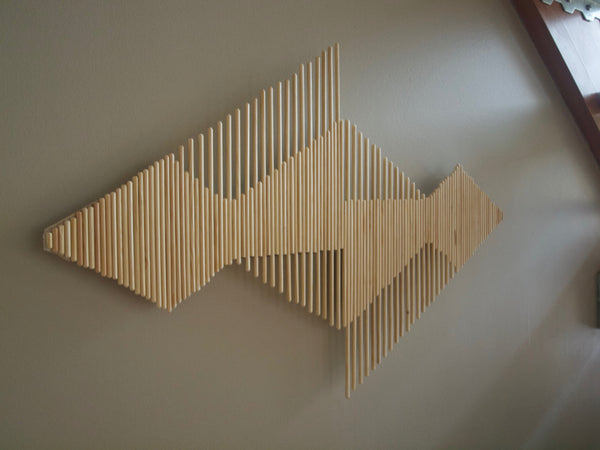 DIY Wooden Stick Wall Decoration - Aztec Style - ModiDen