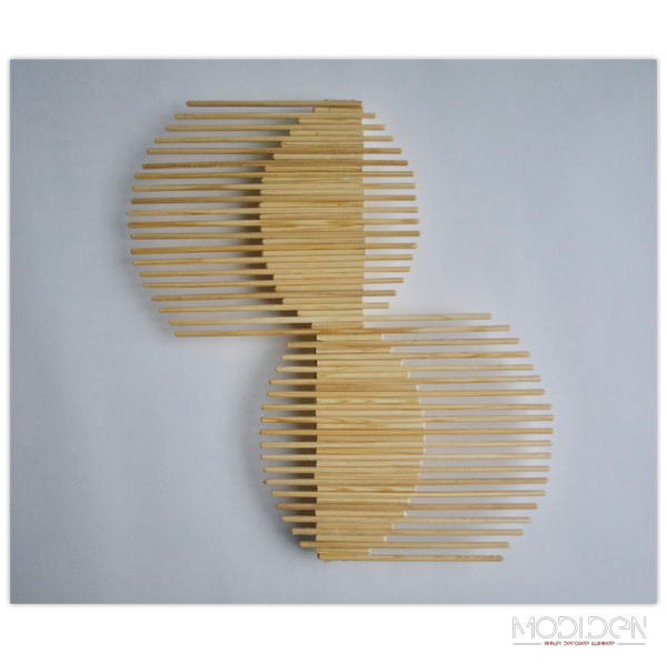 DIY Wooden Stick Wall Decoration - 'Balance' - ModiDen