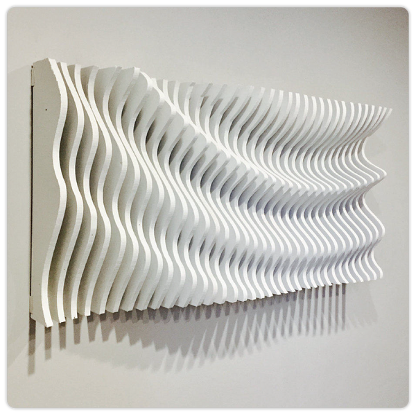 "3D Wooden Wall Art - ""Parametric Wave"""