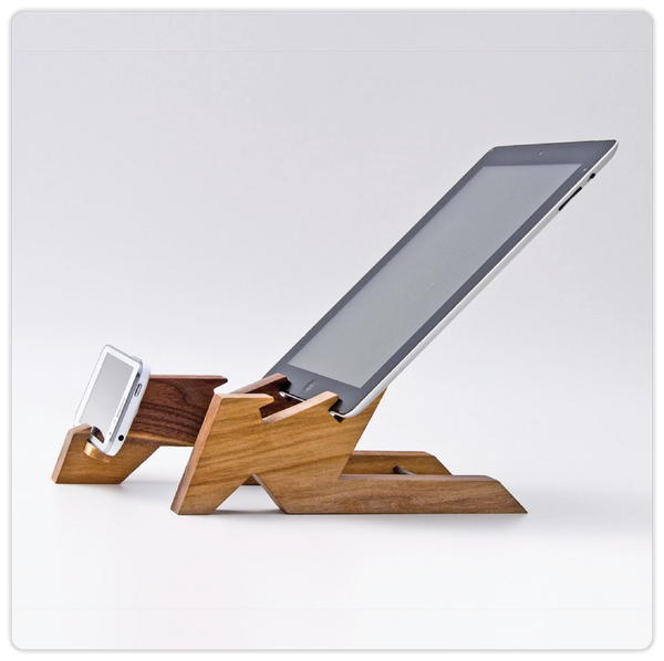 Wooden iPad & iPhone Stand - ModiDen
