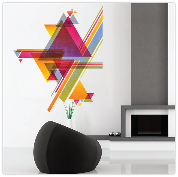Colorful Abstract Linear Triangled Wall Decal - ModiDen