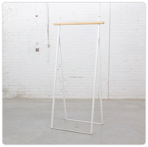 White Minimalist Clothing Rack