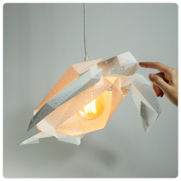 "Geometric Origami HangingLamp - ""Sea Turtle"""