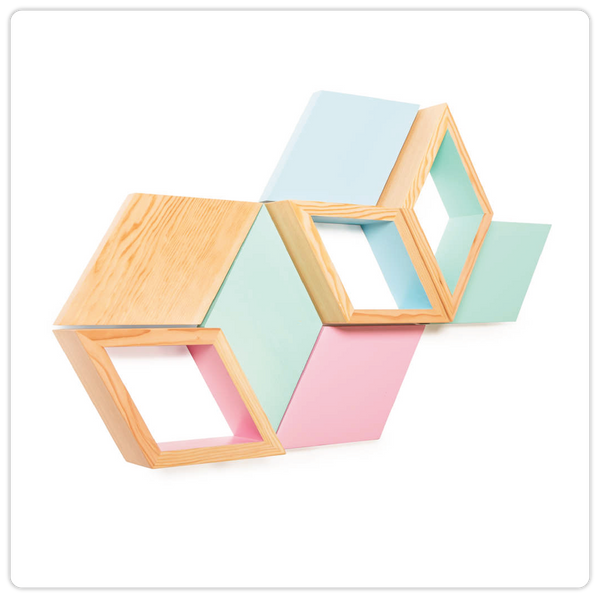 Geometric Colorful Wall Shelve - ModiDen