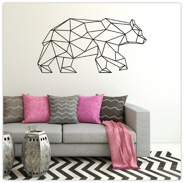 Geometric Bear Wall Decal - ModiDen