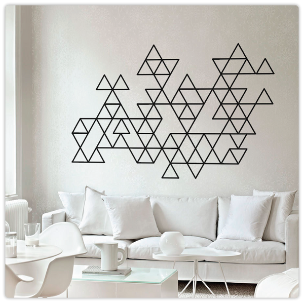 Geometric Minimalist Triangles Wall Decal - ModiDen