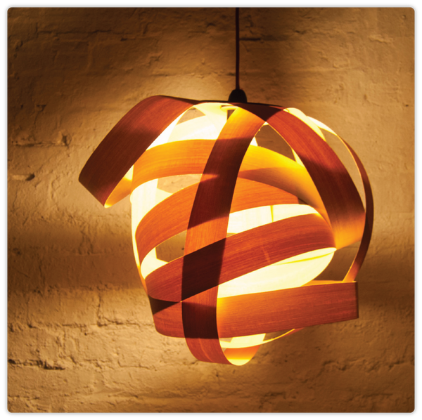 Thin Sliced Wooden Hanging Lamp - ModiDen
