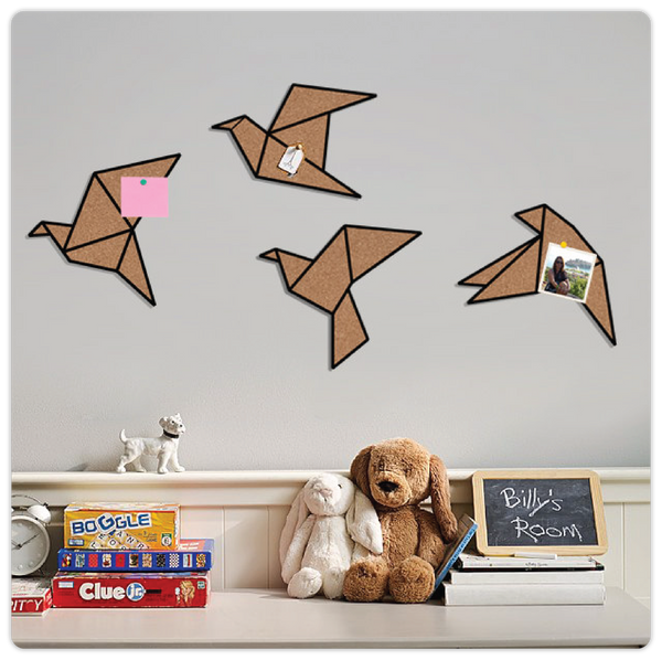 Geometric 4 Bird Cork Board - ModiDen