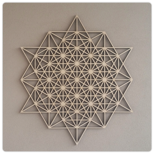 Laser Cut Wooden Geometric Wall Grid - ModiDen