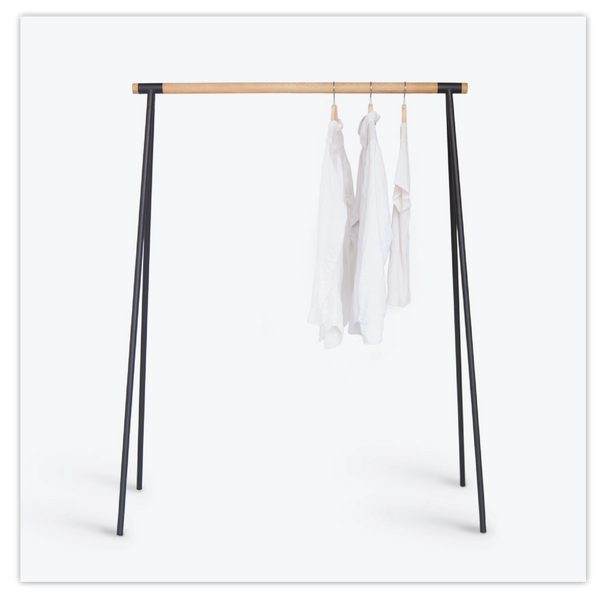 Minimalist Wood/Metal Clothing Rack - ModiDen