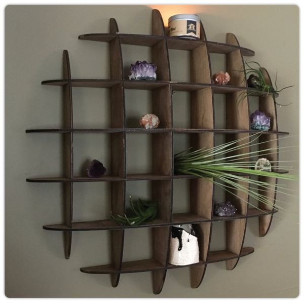 Flat-Pack Geometric Shadowbox Organizer - ModiDen