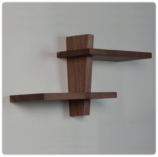 Flat Pack Walnut Shelf - ModiDen