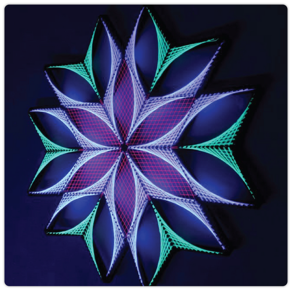 Glowing Geometric String Art - ModiDen