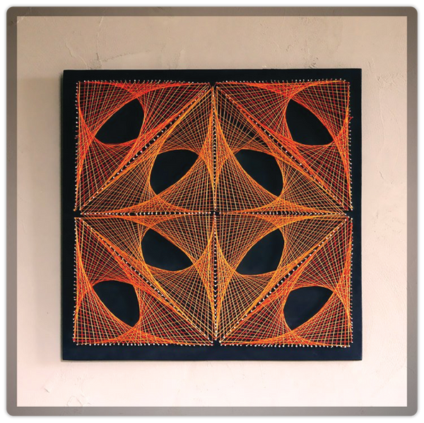 Geometric Mural Pattern String Art - ModiDen