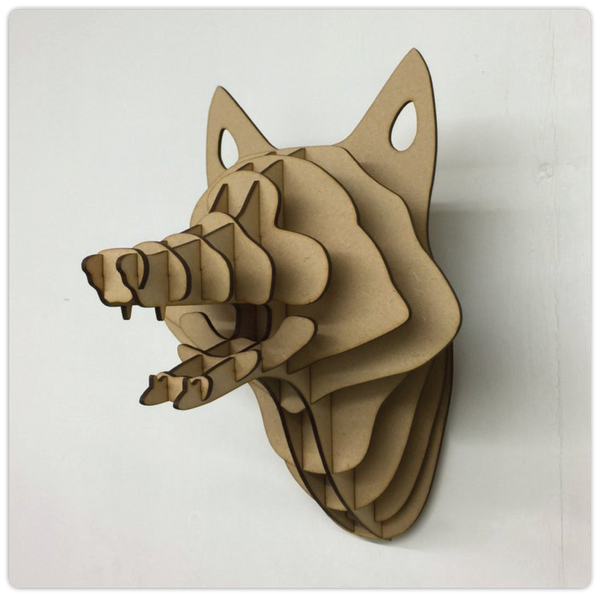 "3D Wooden Trophy - ""Fox"" - ModiDen"