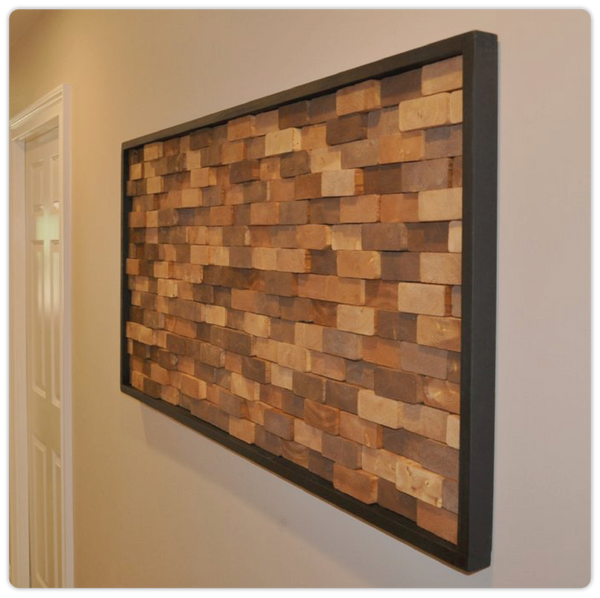 "Modern/Rustic ""Brick Wall"" Art - ModiDen"