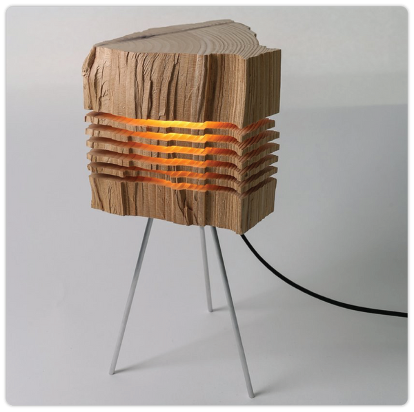 "Wooden ""Split"" Table Lamp - ModiDen"