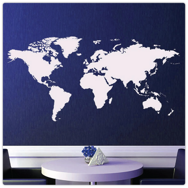 Decorate tagged wall stickers modiden large world map removable wall sticker modiden gumiabroncs Image collections