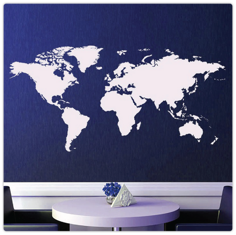 World Map Removable Wall Sticker.Large World Map Removable Wall Sticker Modiden