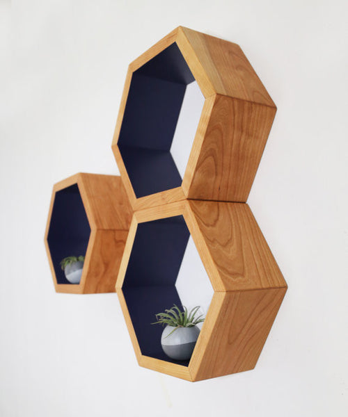 Honeycomb Geometric Hexagon Shelves - ModiDen
