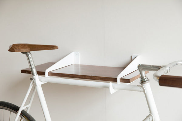 Wall Mounted Bike Rack and Shelf - ModiDen