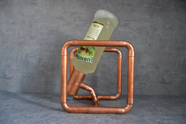 Industrial Copper Bottle Holder - ModiDen