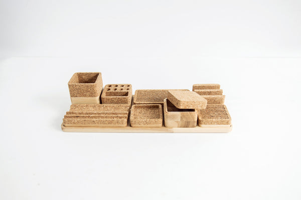 Oak & Cork Desk Organizer  - ModiDen