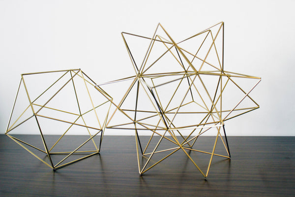 Geometric Brass Plant Holders - ModiDen