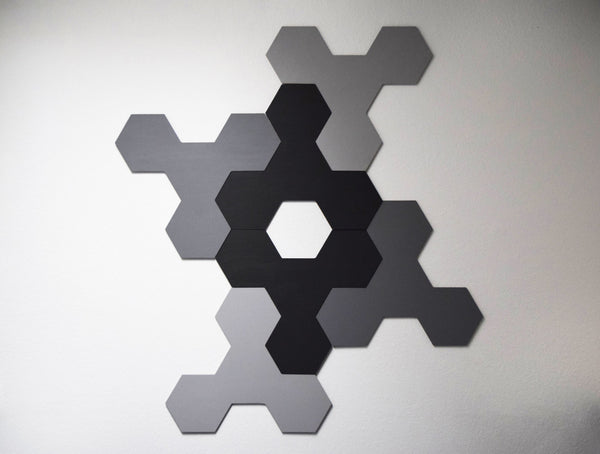 Modern Geometric Hexagon Wall Sculpture - ModiDen