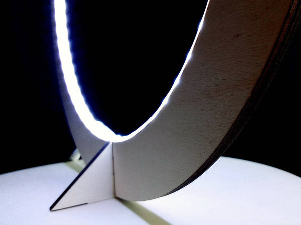 Laser Cut Wooden LED Table Lamp - ModiDen