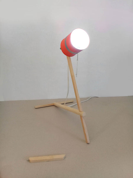 "Wooden Table Lamp - ""LUMI-TIN"""
