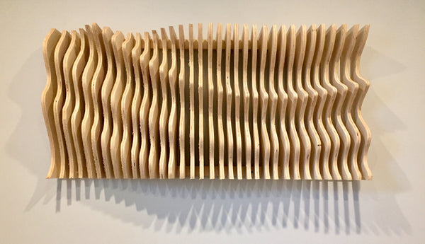 Abstract Sound Wave Wood Wall Art