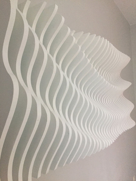 "3D Wooden Wall Art - ""Parametric Wave"" - ModiDen"