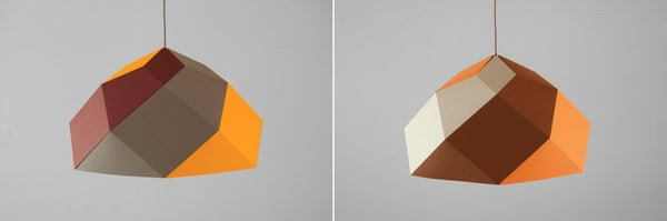 "Geometric Hanging Lamp - ""Hexas"" - ModiDen"