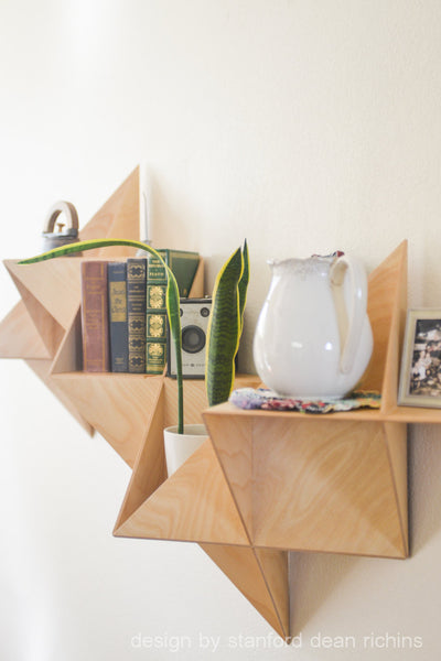 Modular Wooden Birch Wall Shelf - ModiDen