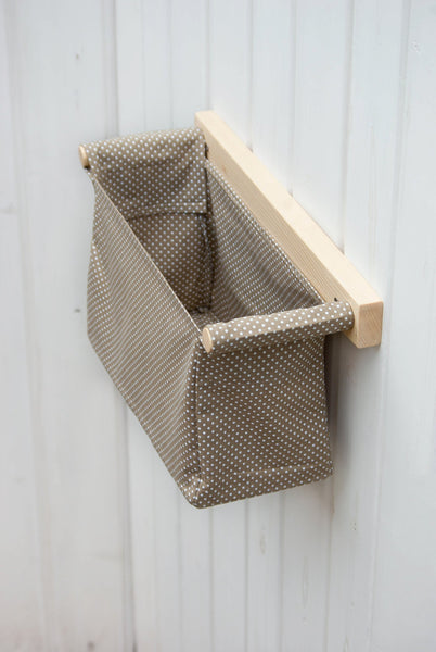 Wood and Fabric Hanging Storage