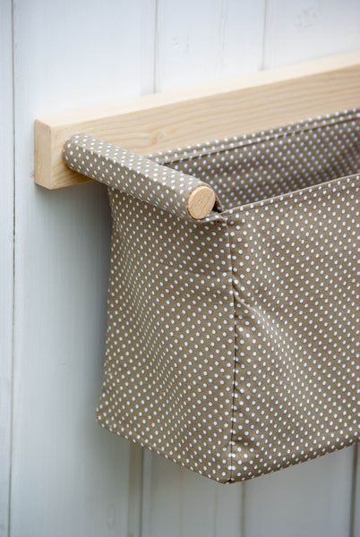 Wood and Fabric Hanging Storage - ModiDen