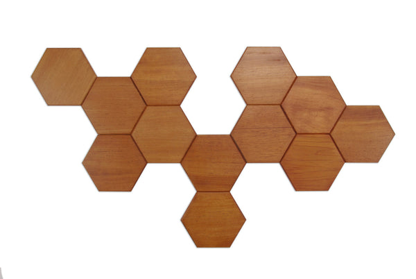 Wooden Beewax Hexagon Wall Art - ModiDen