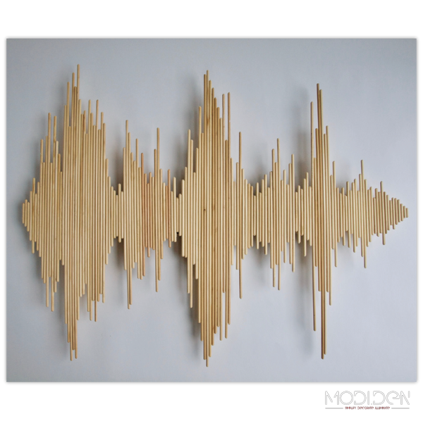 DIY Wooden Stick Wall Decoration - Soundwave - ModiDen