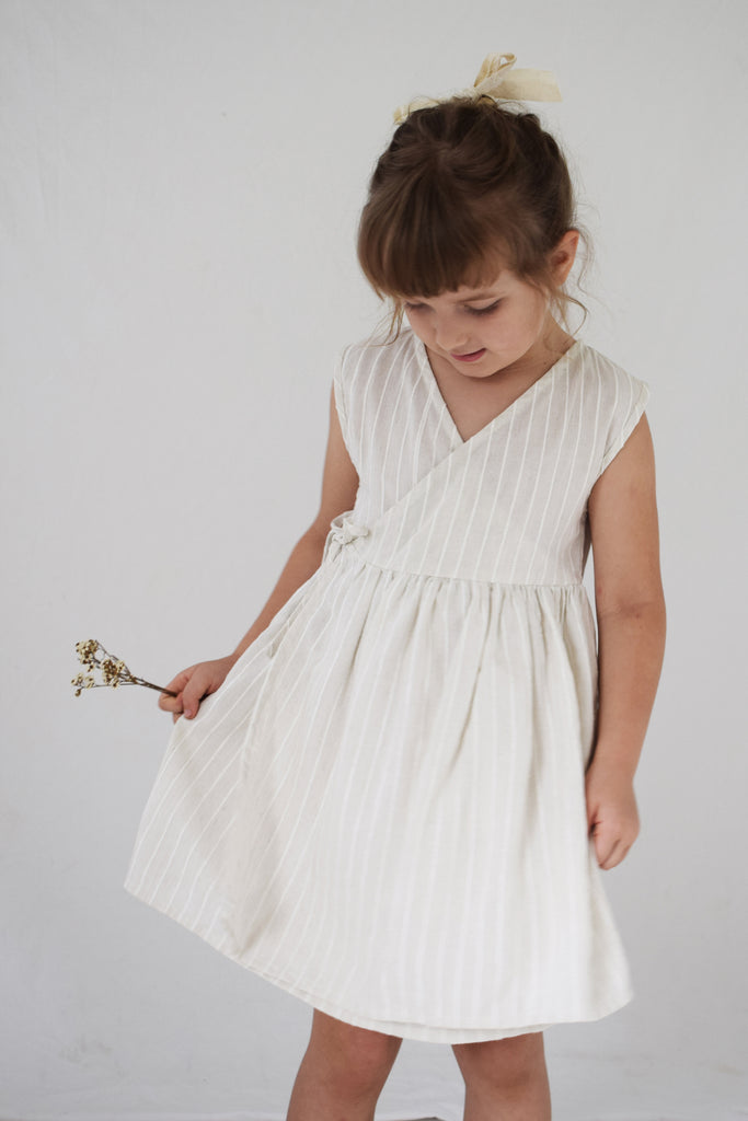 Bay Dress | Birch Woven Stripe