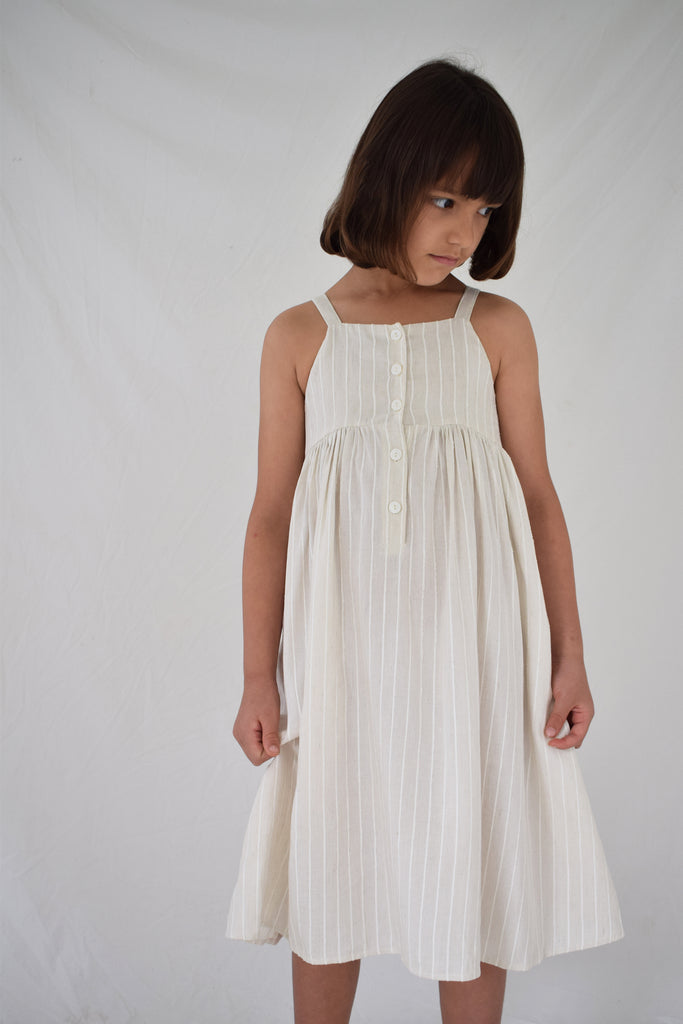 Picnic Dress | Birch Woven Stripe