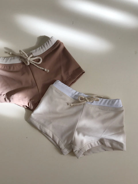 Swim Trunks- Cream