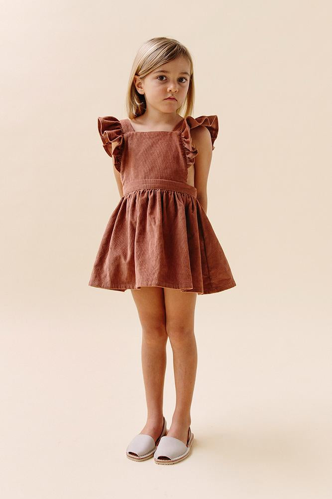 Dusk Pinafore- Rose Cord