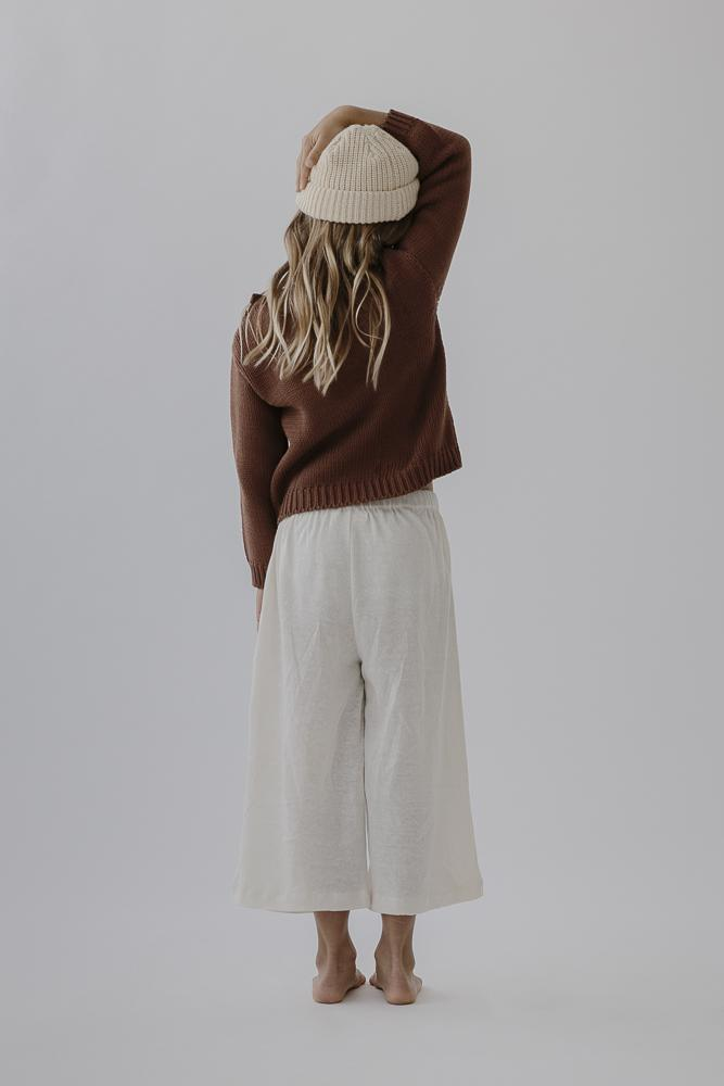 Lounge Pants | Natural Linen Knit
