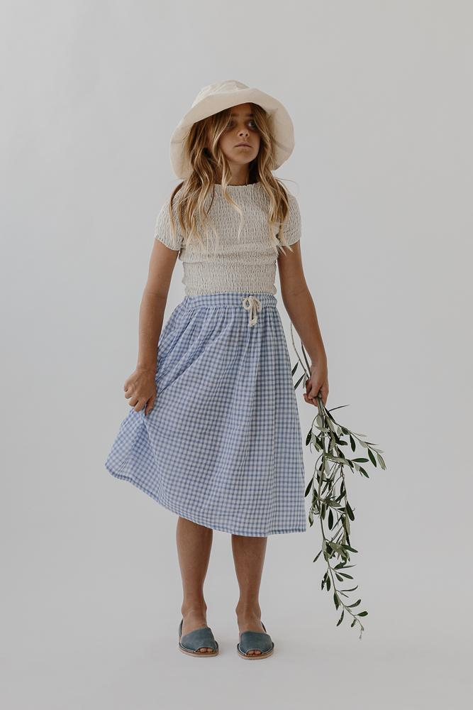 Jesse Skirt | Bluebird Check