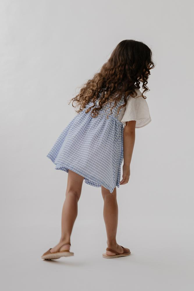 Greta Dress | Bluebird Check
