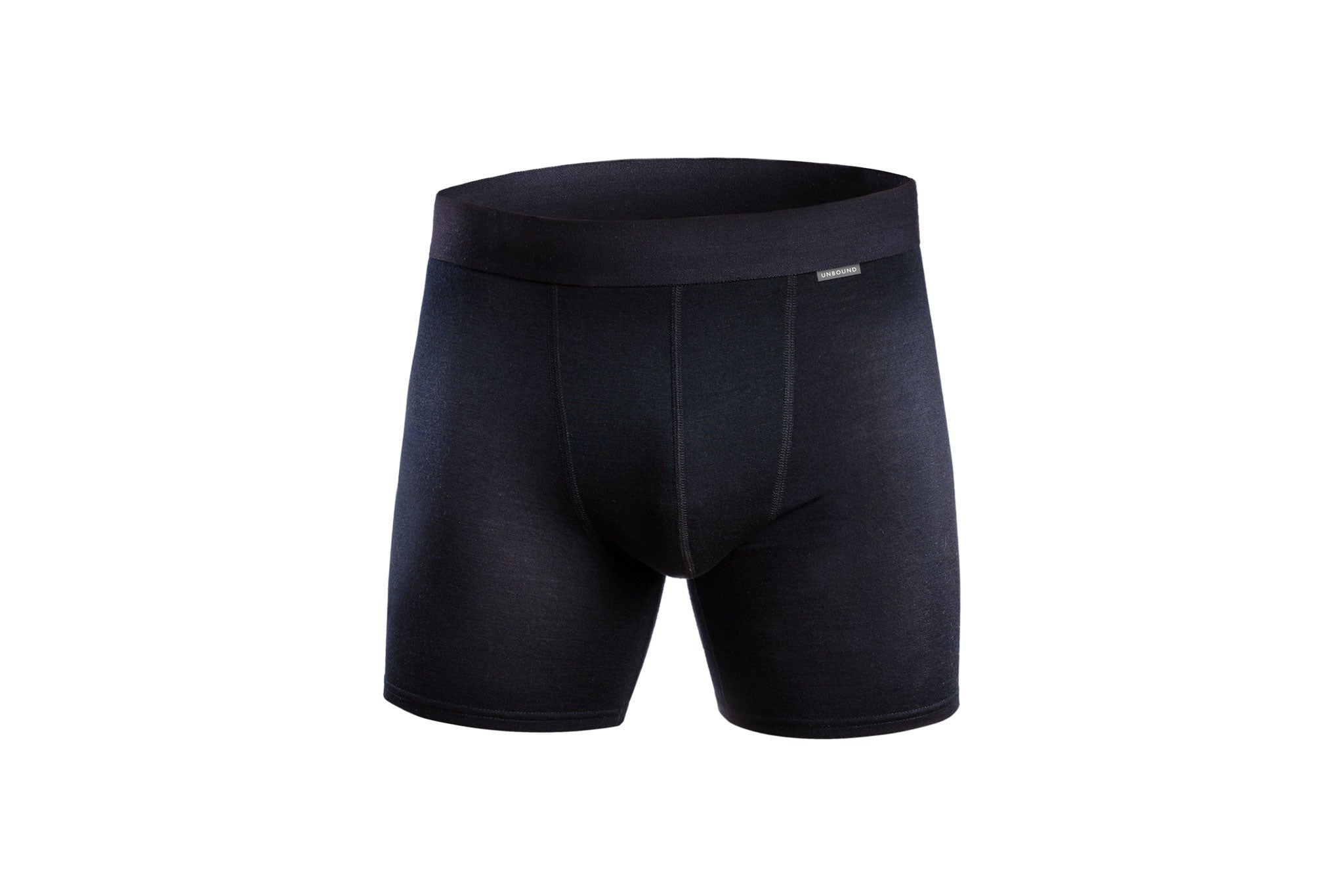 Black Merino Wool Boxer Briefs