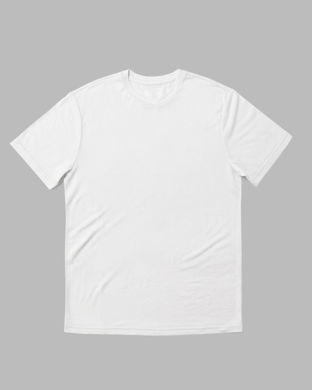 LIMITED RELEASE - Bright White Merino Blend Crew Neck Tee