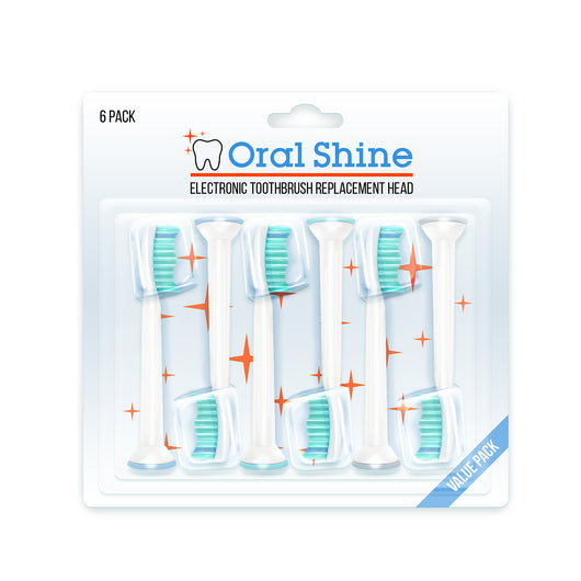 #1 Rated Sonicare Electric Toothbrush Replacement Heads (6) | Soft Bristles For Gum Protection & Effective Plaque Removal