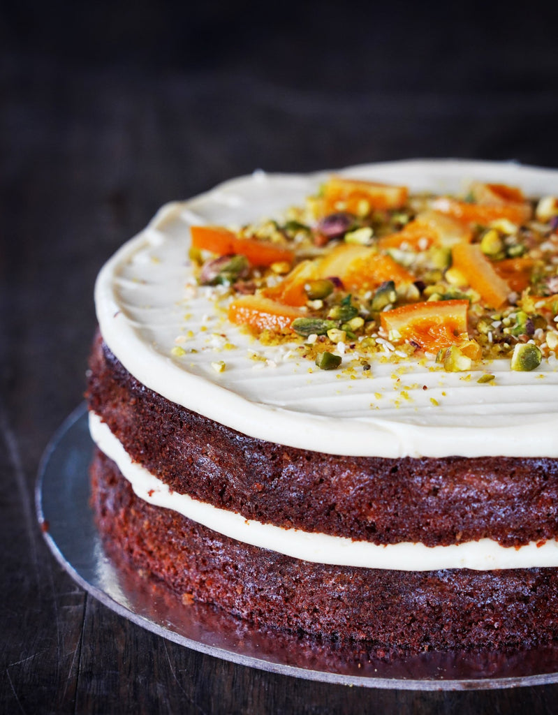 Carrot, Orange & Pistachio Cake